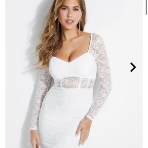 Guess white lace mini dress